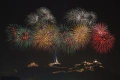 Fogo de artifício em Tailândia Imagens de Stock Royalty Free