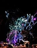 Fogo de artifício incrível em Budapest fotos de stock