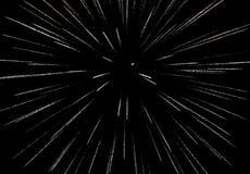 Fogo de artifício na exposição preta do fundo do céu Imagem de Stock