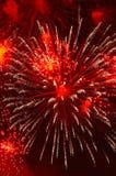 Fogo-de-artifício na honra do Dia da Independência Fotografia de Stock Royalty Free
