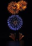 Fogo-de-artifício na represa Fotografia de Stock