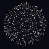 Fogo de artifício no fundo da noite, aniversário que estoura fogos-de-artifício ilustração royalty free