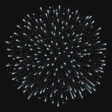 Fogo de artifício no fundo da noite, aniversário que estoura fogos-de-artifício ilustração do vetor