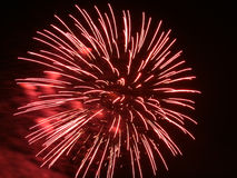 Fogo-de-artifício no movimento. Imagem de Stock
