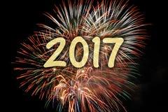 Fogo de artifício nos anos novos 2017 Imagens de Stock