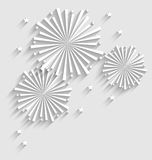 Fogo de artifício para eventos da celebração do feriado, sombra longa do estilo liso Imagens de Stock