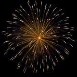 Fogo-de-artifício sobre o céu escuro foto de stock royalty free