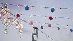 Fogo de artifício de surpresa no festival, Espanha vídeos de arquivo