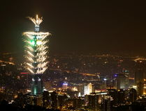 Fogo-de-artifício Taipei101 Foto de Stock Royalty Free