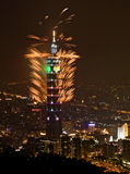 Fogo-de-artifício Taipei101 Fotografia de Stock Royalty Free