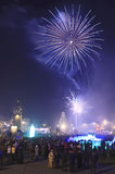 Fogo-de-artifício Vladivostok do ano novo Fotografia de Stock Royalty Free