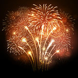 Fogo de artifício do feriado do vetor Fotos de Stock