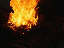 Fogo de carvão fotos de stock royalty free