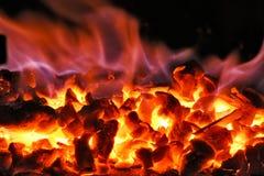 Fogo de carvão foto de stock royalty free
