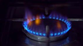 Fogo de gás no fogão filme