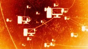 Fogo de giro da rede do ícone ilustração royalty free