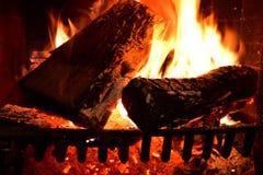Fogo de madeira Backgroun Imagem de Stock