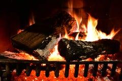 Fogo de madeira Backgroun Imagens de Stock