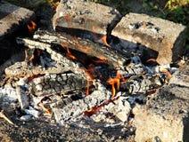 Fogo de madeira /campfire/chaminé imagens de stock royalty free