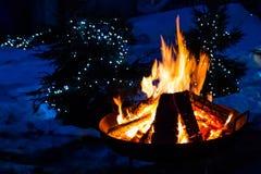 Fogo do acampamento Imagens de Stock
