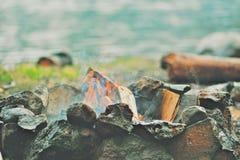 Fogo do acampamento Foto de Stock
