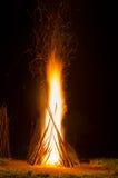 Fogo do acampamento Fotografia de Stock