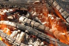 Fogo do acampamento de Burnig Imagem de Stock