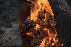 Fogo do BBQ fotos de stock