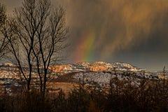 Fogo do céu em Ridge Canyons Wilderness preto foto de stock