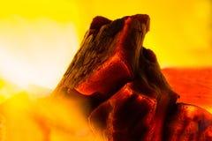 Fogo do carvão vegetal Imagens de Stock Royalty Free