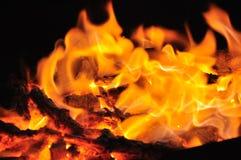 Fogo do carvão vegetal Imagem de Stock Royalty Free