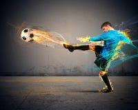 Fogo do futebol Imagens de Stock