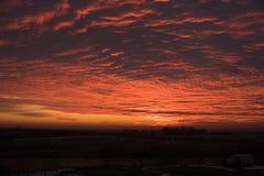 Fogo do nascer do sol Foto de Stock Royalty Free