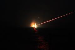 Fogo do projétil luminoso Foto de Stock