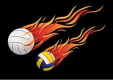 Fogo do voleibol Fotografia de Stock