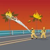 Fogo dos desenhos animados da ilustração do vetor - extinguindo ilustração stock