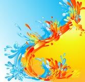 Fogo e água Imagens de Stock Royalty Free