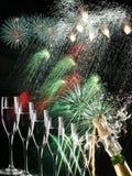 Fogo e bebidas Fotografia de Stock