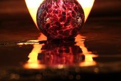Fogo e vidro Imagens de Stock