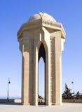 Fogo eterno na avenida de Shaheed daqueles matados na guerra Parque montanhoso da cidade de Baku, Azerbaijão imagem de stock