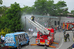 Fogo - extinguindo. Fotografia de Stock