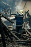Fogo - extinguindo em Bulgária Imagem de Stock