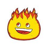 fogo feliz dos desenhos animados ilustração royalty free