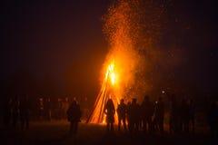 Fogo grande do acampamento Foto de Stock Royalty Free