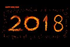 Fogo número 2018 Imagem de Stock