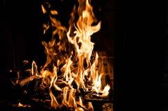 Fogo na chaminé Fotos de Stock Royalty Free