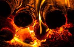 Fogo na fornalha Imagem de Stock