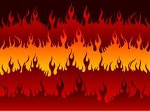 Fogo no inferno ilustração do vetor