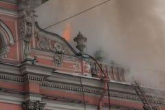 Fogo no palácio Fotografia de Stock