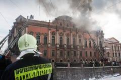 Fogo no palácio Imagens de Stock